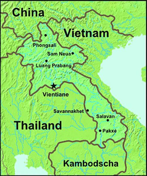 Laos in Südostasien
